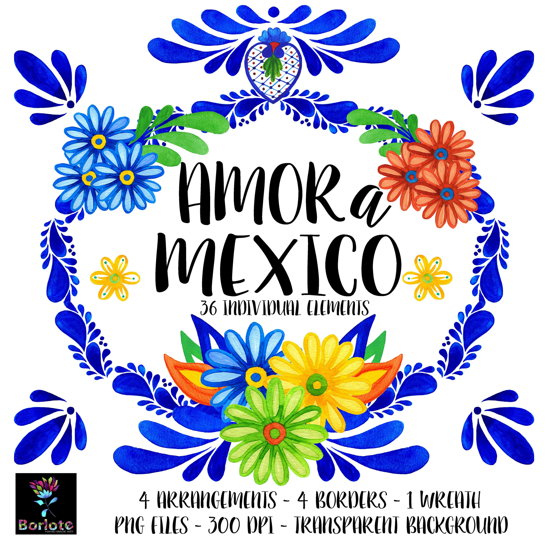 Il Fullxfull 1259120673 Kk0a Jpg 3000 3000 Clip Art Mexican Flowers Mexican Wedding