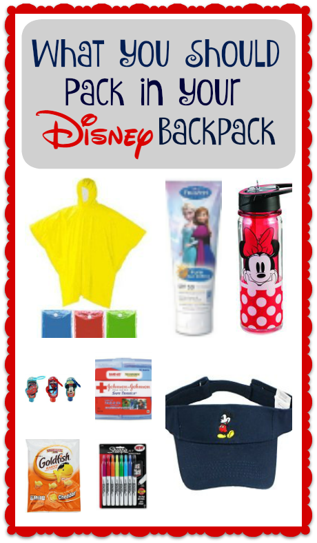 What To Pack For Disney World In Your Backpack