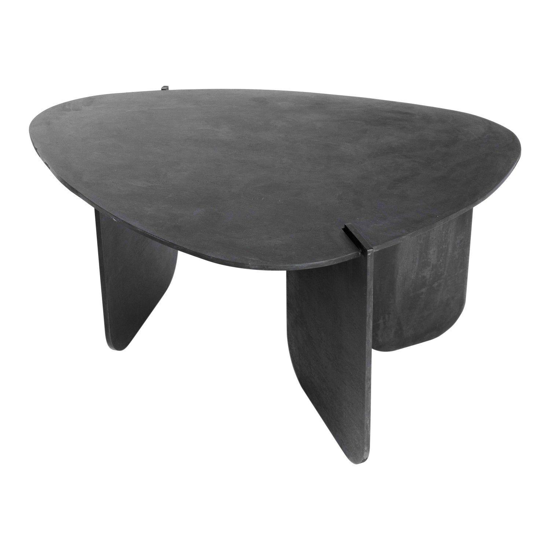 Black Modern Contemporary Blackened Steel Uniquely Circular End