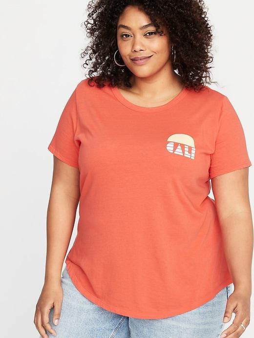 78a4cf56 Old Navy Women's Everywear Plus-Size Graphic Tee Cali Sun Size 2X Crew Neck,