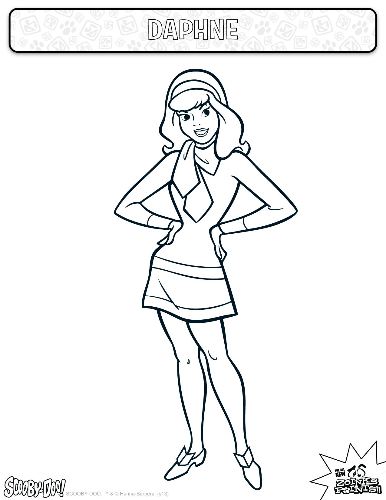 Daphne Coloring Sheet Actitivies Coloring Kids Scoobydoo