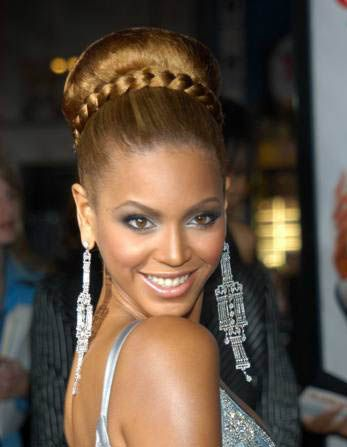 Braided bun on Beyonce - Very similar to ours! | Hair updos, Braided bun hairstyles, Hair styles