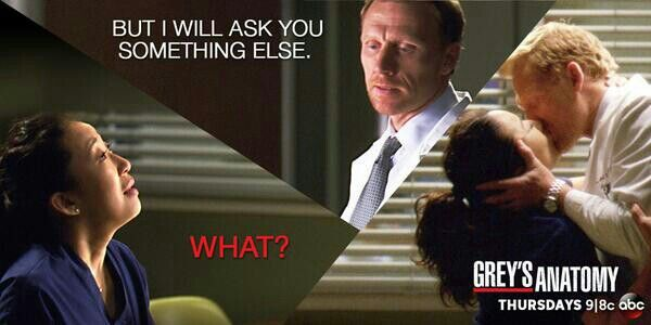 Owen Hunt: But I will ask you something else. Cristina Yang: What ...