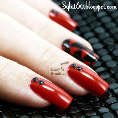Red Nail Art Tumblr Nail Art With Red And White Red Angel Nail Art