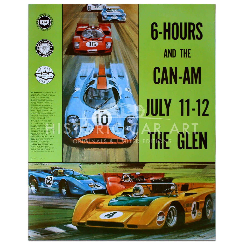USA Watkins Glen 6 Hour Race & CanAm 1970 Poster