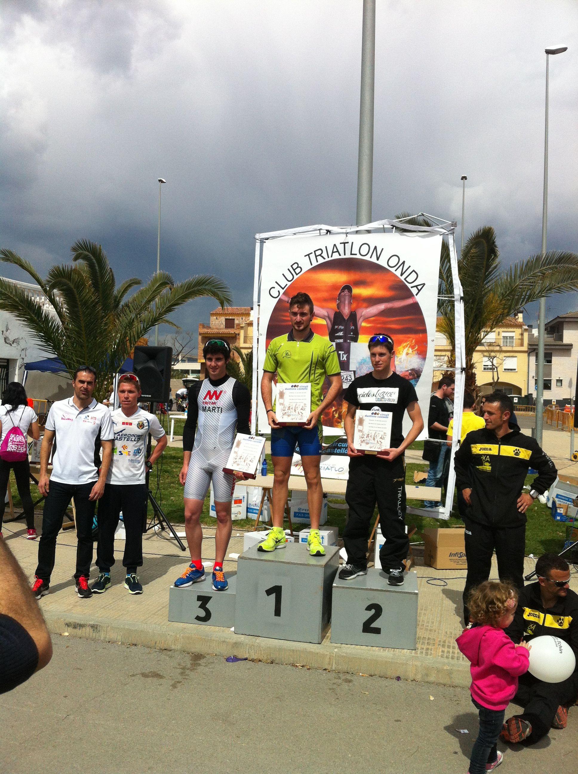 Javier Martí, 3º de la general final sub23 del circuito de Duatlones de Castellón. Club Triatlón Tritan.