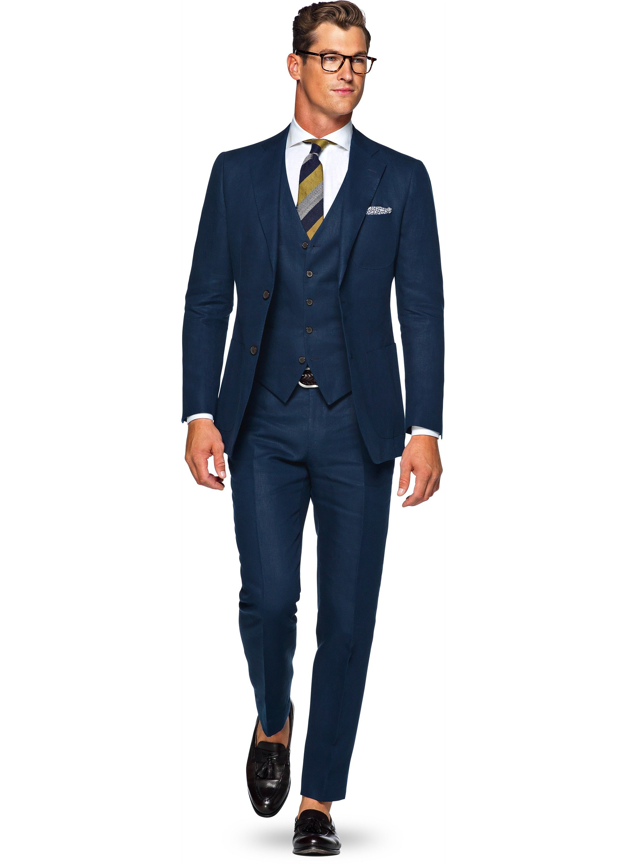 Suit Blue Plain Hudson P4814i Suitsupply Online Store In