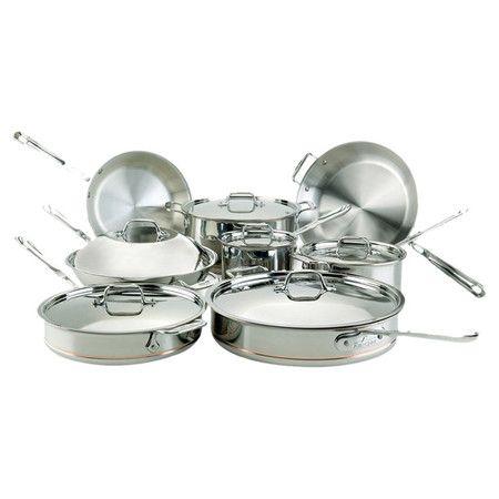 14 Piece All Clad Cookware Set Cookware Set Stainless Steel Cookware Set Safest Cookware