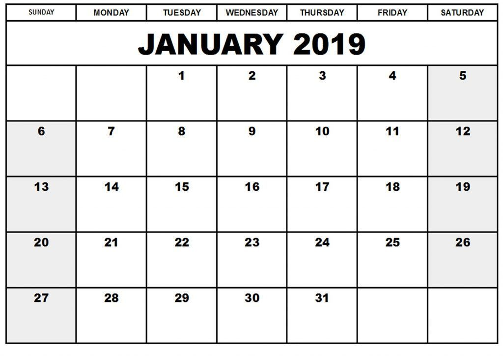 January 2019 Calendar Nz Printable (With images) Monthly