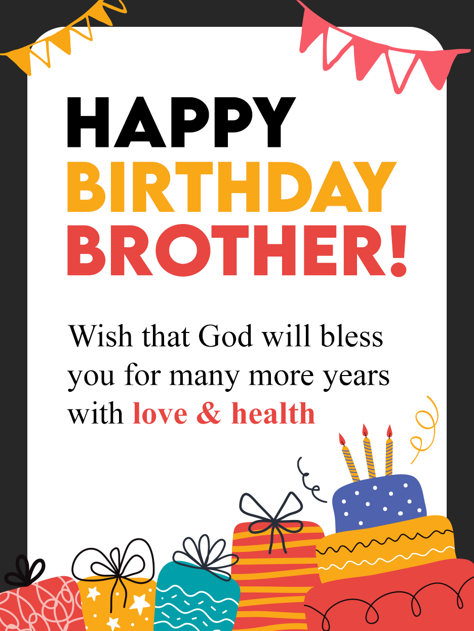 Superb Birthday – Birthday Card for Brother  Birthday & Greeting