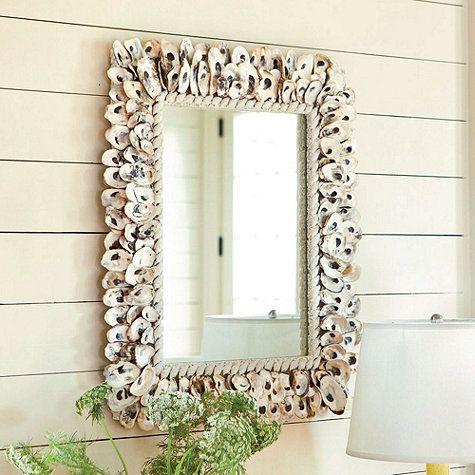 Oyster Shell Rectangular Mirror