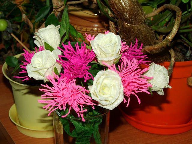 Kwiaty Z Bibuly Tissue Paper Flowers Paper Flowers Flowers
