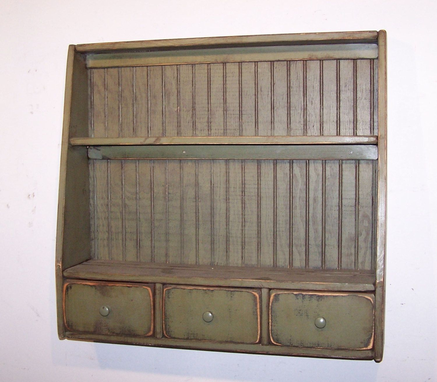 Primitive Plate Rack with 3 Drawers and by WillowIslandPrim $139.99 & Primitive Plate Rack with 3 Drawers and by WillowIslandPrim $139.99 ...