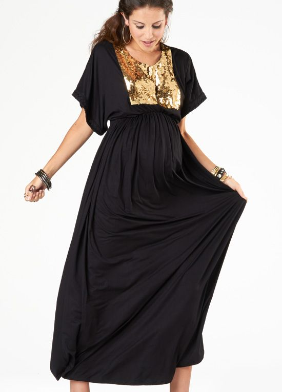 675dc8ebee Queen Bee Bring On The Night Maxi Maternity Dress by Fillyboo ...