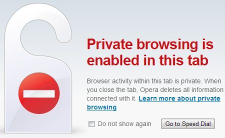 How To Optimize Opera For Maximum Privacy Computer Internet Private Browsing Mode Web Browser