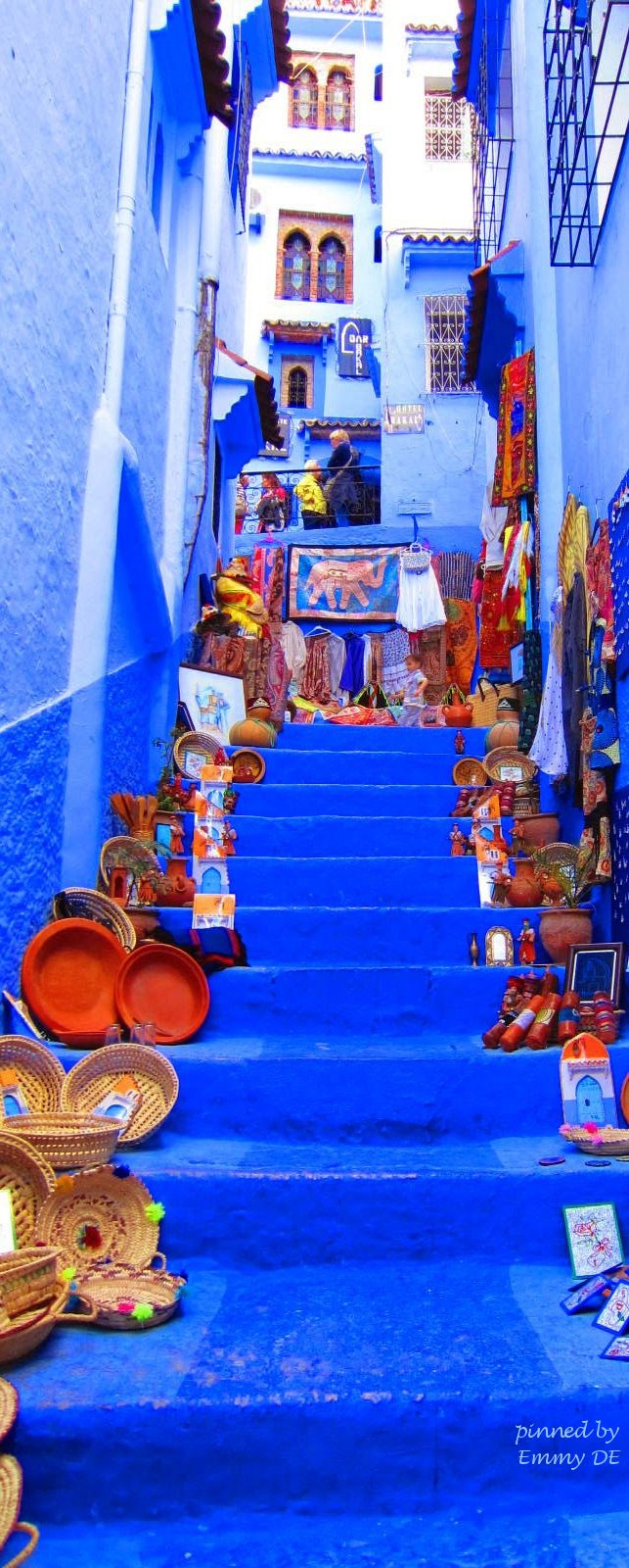 Emmy DE * The Blue City Chefchaouen, Morocco Stairway