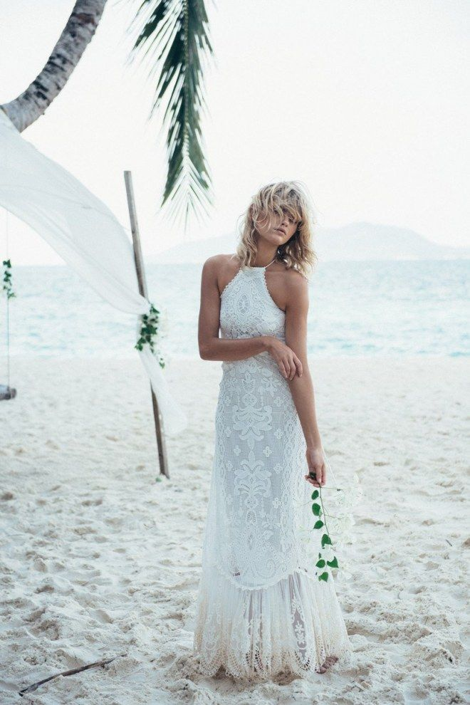 Luftig und fließend: Die schönsten Brautkleider für eine ...