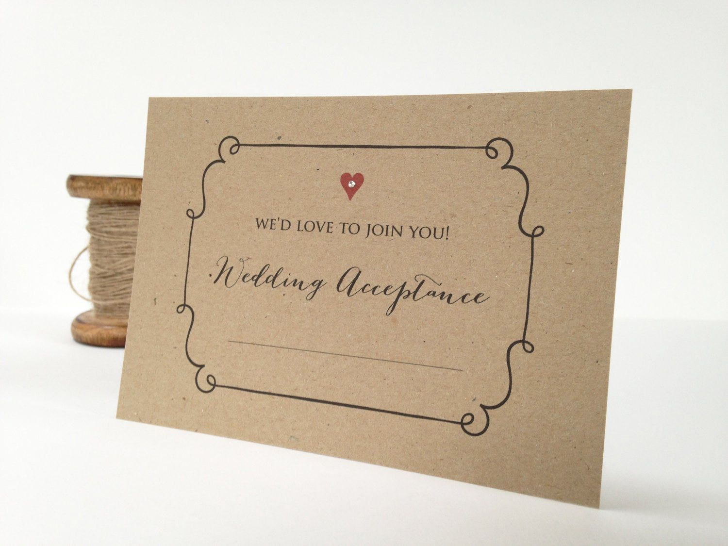 Wedding Acceptance Card Wedding Reply Card Rsvp Card Etsy Wedding Acceptance Card Wedding Reply Cards Reply Cards