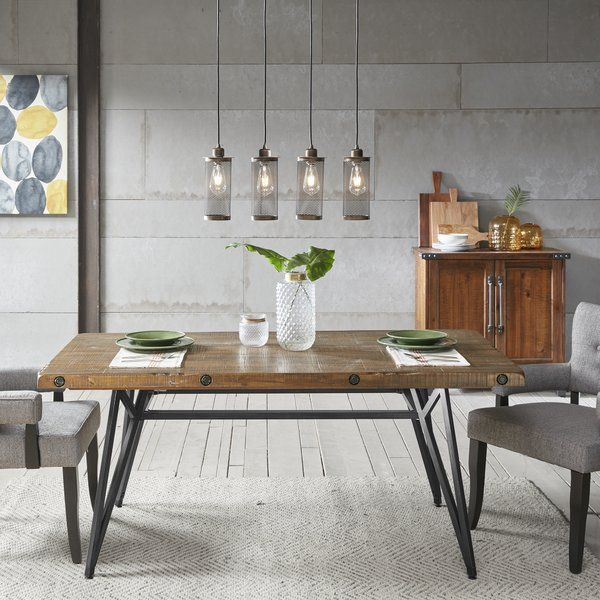 Cesare Gathering Counter Height Solid Wood Dining Table images