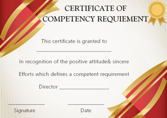 certificate of competency 22 templates in word excel and pdf template sumo