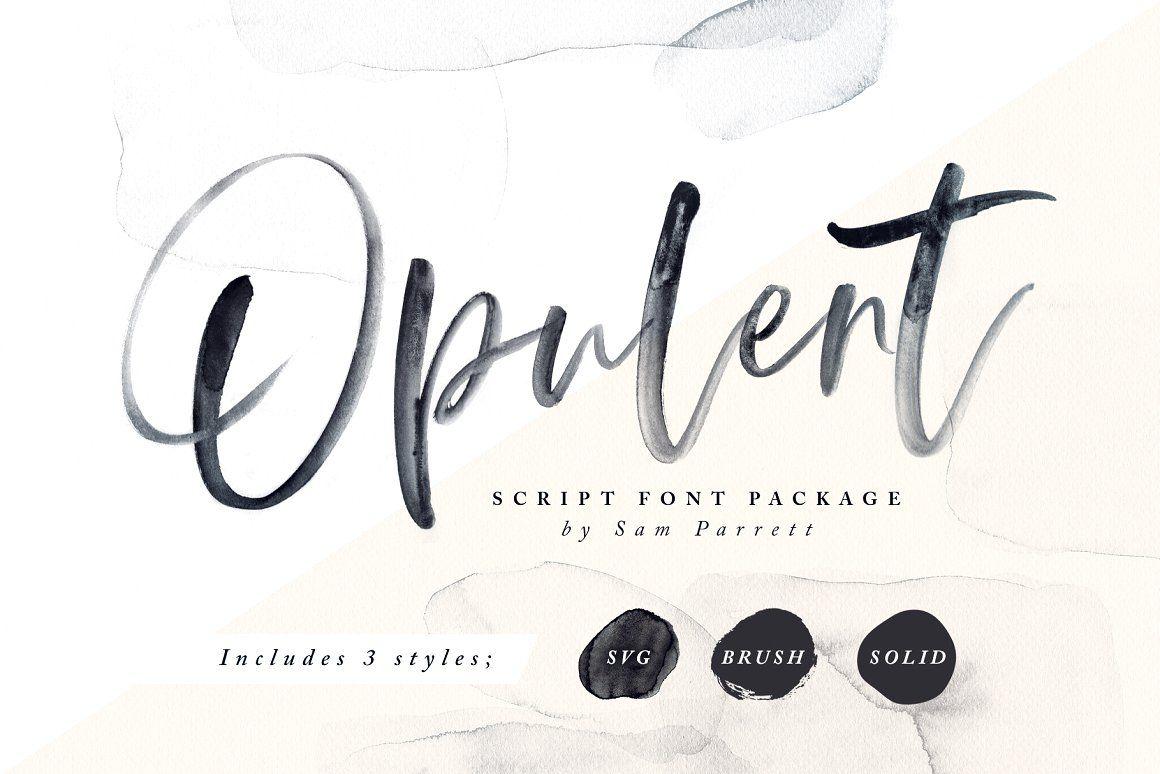 Opulent Font Svg Lettering Brush Font Hand Lettering