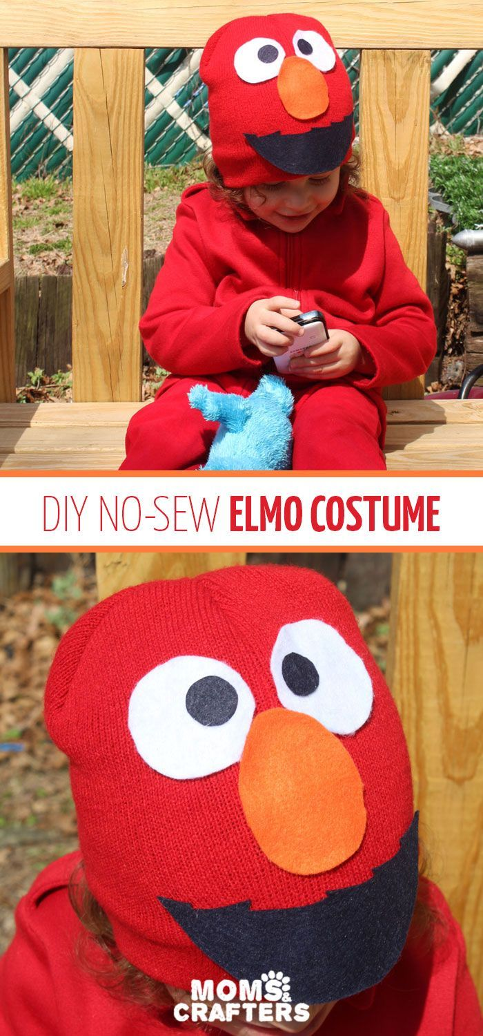 Make an easy elmo costume for toddlers fall holidays pinterest i made this easy diy elmo costume for my toddler in minutes its a simple frugal easy costume idea for toddlers or preschoolers who love sesame street solutioingenieria Choice Image