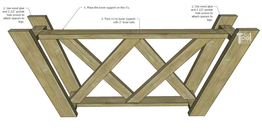 Double X Console Table Plans With Images Woodworking Diy Workbench Table Plans Woodworking Wood Types