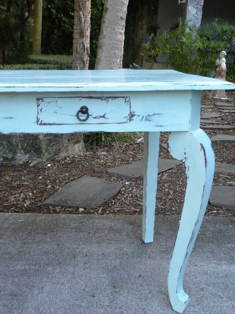 Vintage Desk Writing Table Painted with Annie Sloan by onlinechic, $295.00