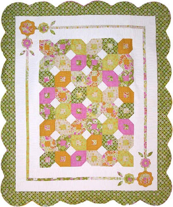Fantasy Garden Quilt Pattern Nrd 168 Advanced Beginner Lap And Throw Quilt Patterns Quilts Wall Quilt Patterns