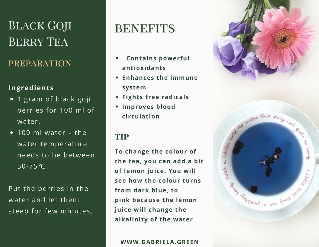 What Is Black Goji Berry Tea Gabriela Green Berry Tea Goji