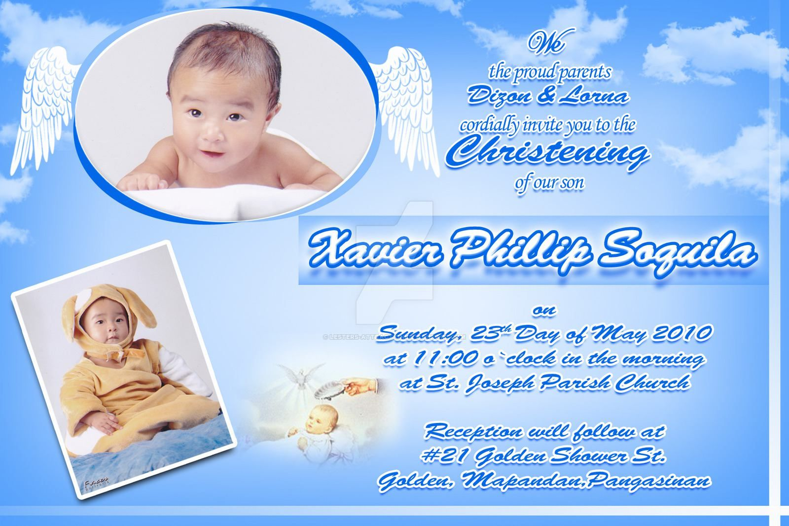Christening Invitation Card Maker Christening Invitation Card