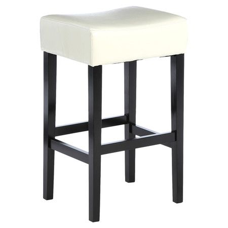 Perfect for enjoying cocktails with friends, this handsome counter stool showcases a bonded leather seat and dark-finished legs.   Produ...