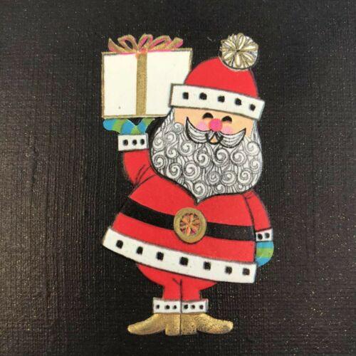 Vintage Mid Century Christmas Greeting Card Santa Claus