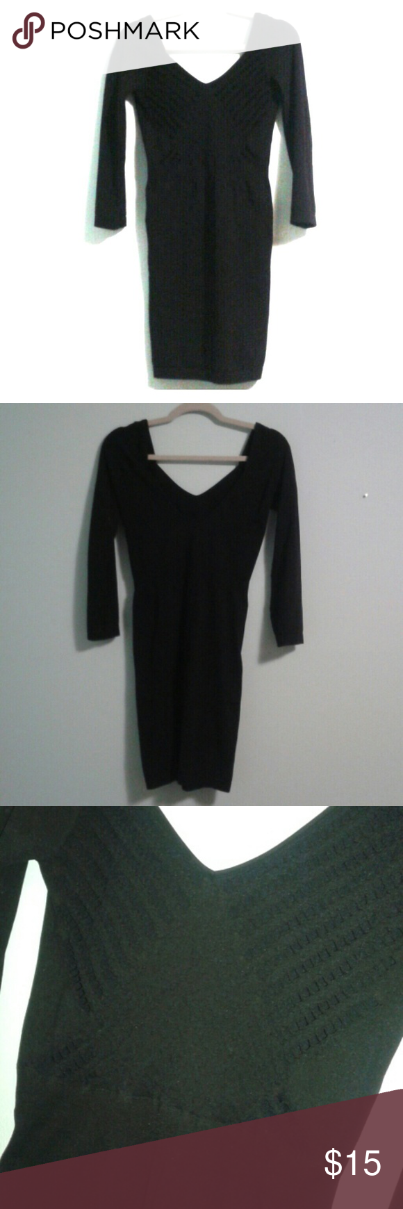 Tight black dress tight black dress with design on front long