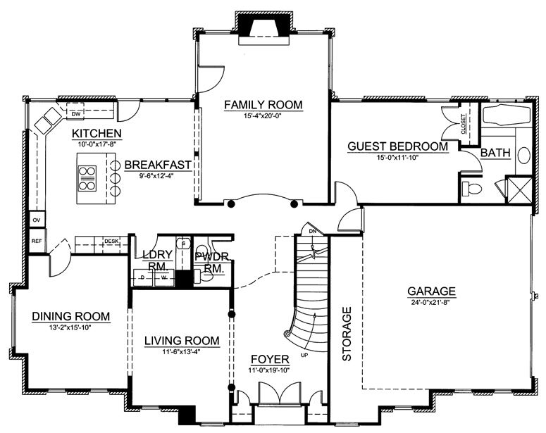 Somerset 8029 4 Bedrooms And 3 Baths The House Designers Planos