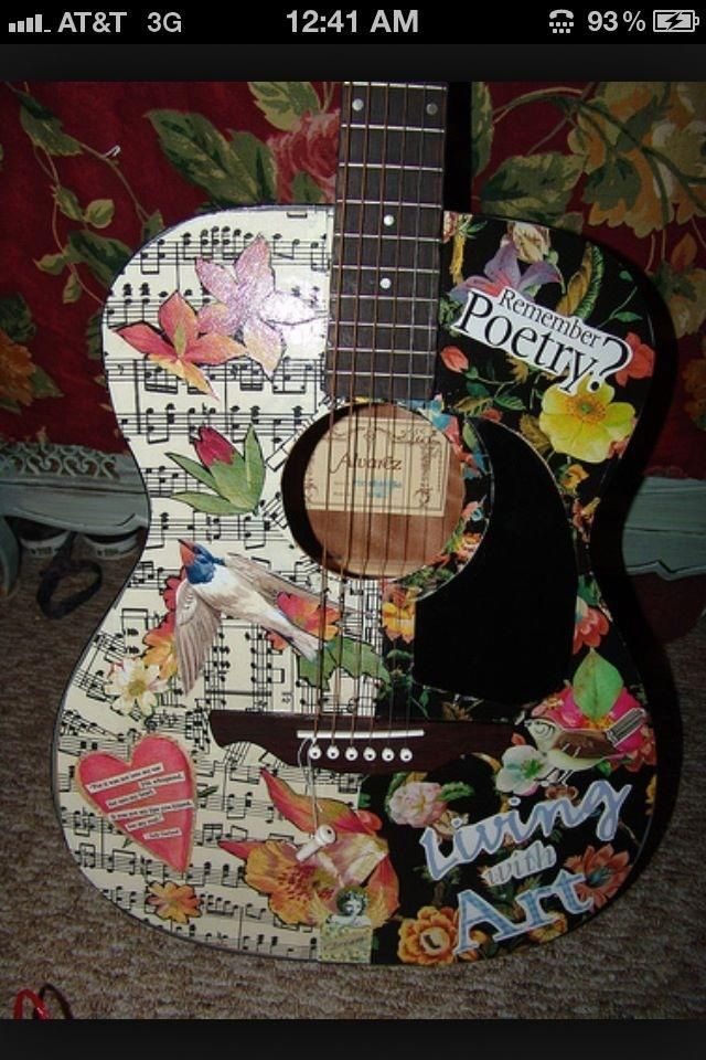 Projects Guitar Art Guitar Painting Decoupage