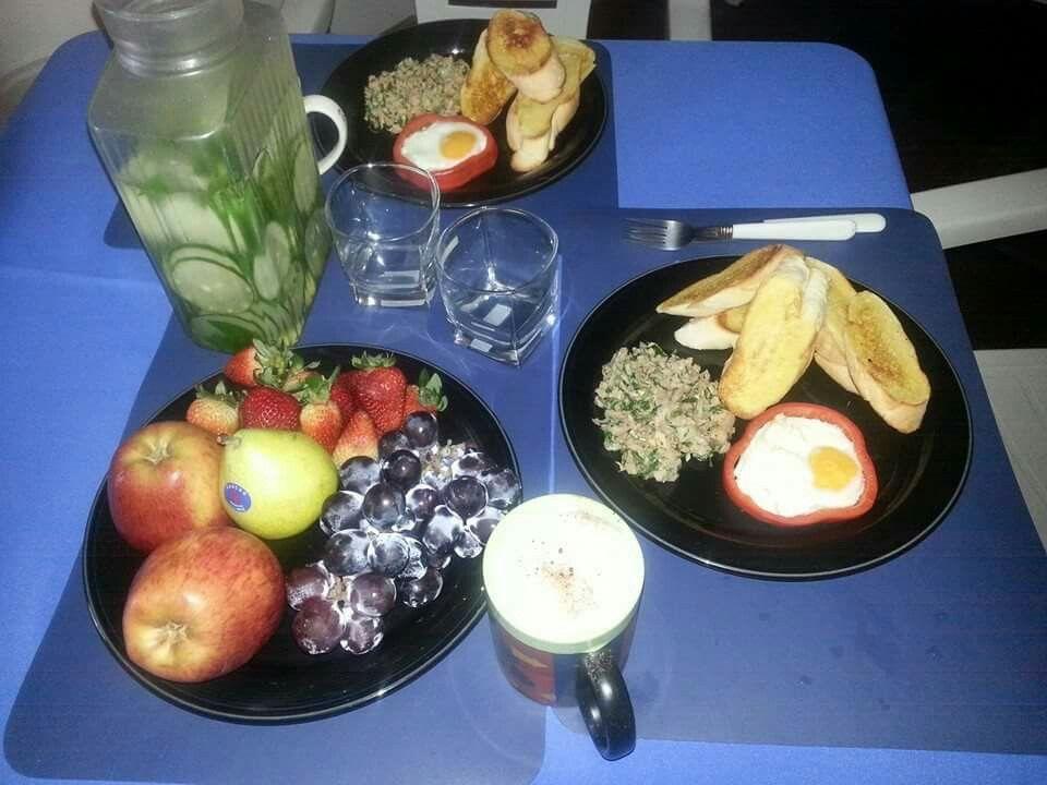 Saludable desayuno en Rio
