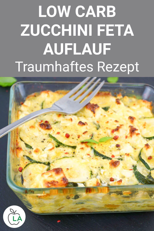 Low Carb Zucchini Auflauf mit Feta Rezept zum Abnehmen - Vegetarischer Zucchini-Auflauf mit Feta: Si...