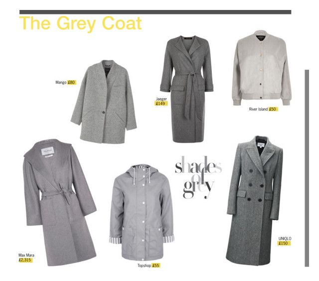 """""""The Grey Coat"""" by mariannamic on Polyvore featuring MaxMara, MANGO, Topshop, Uniqlo, Jaeger, River Island, Winter, grey, coat and SeeingDouble"""