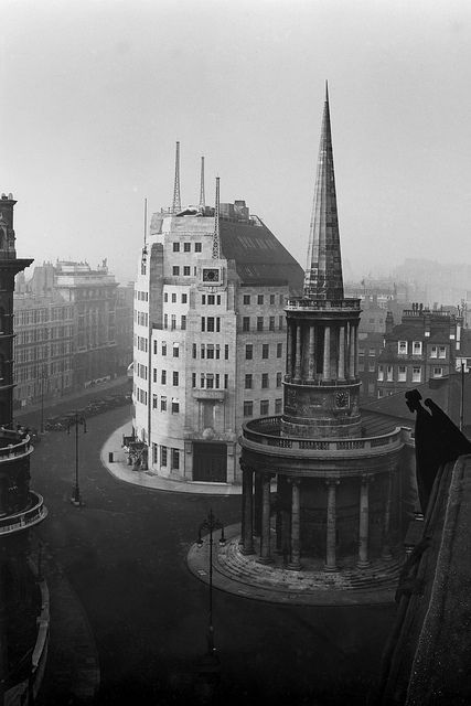 All Soul's Church London // BBC Broadcasting House under construction in 1931.