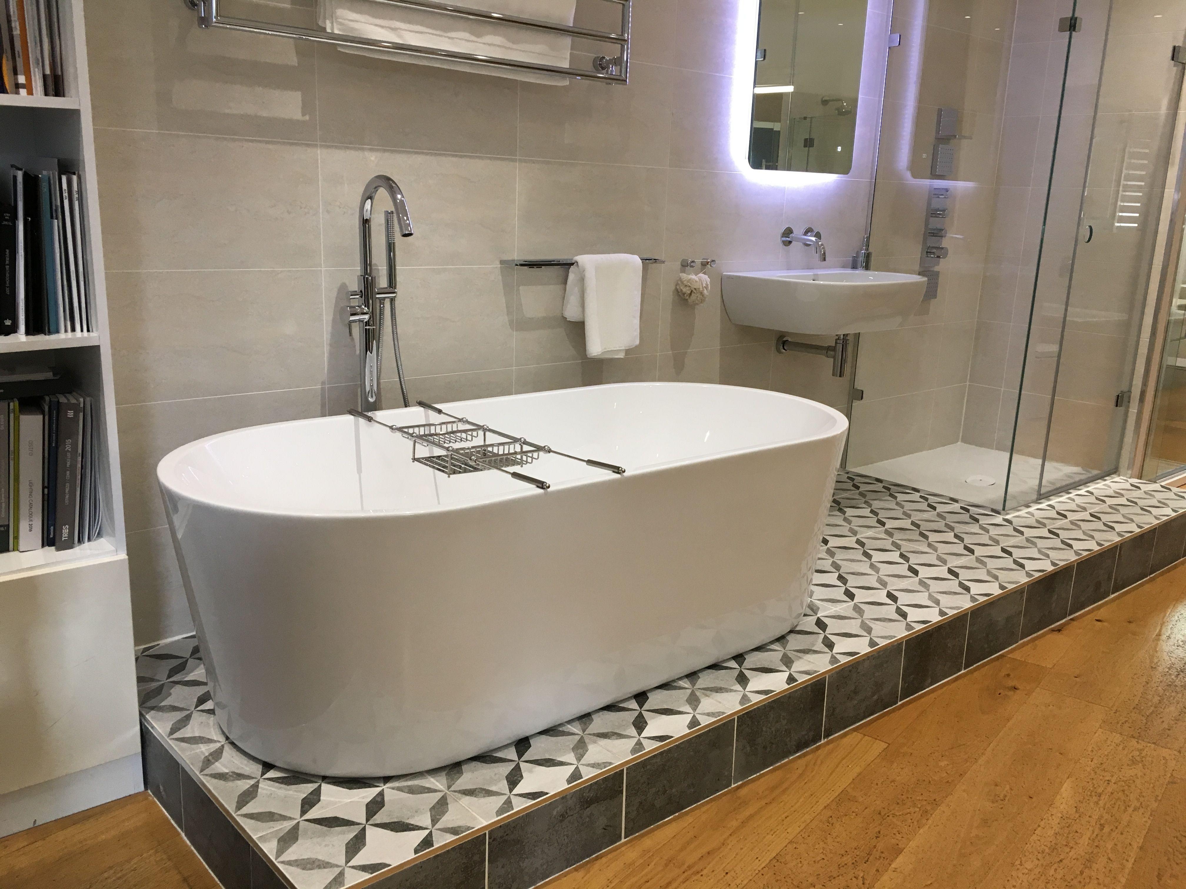 BC Designs Viado bath, £1230, and Crosswater \