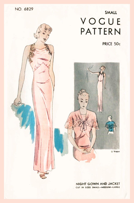 1930s 30s vintage lingerie sewing pattern lace wrap dress slip ...
