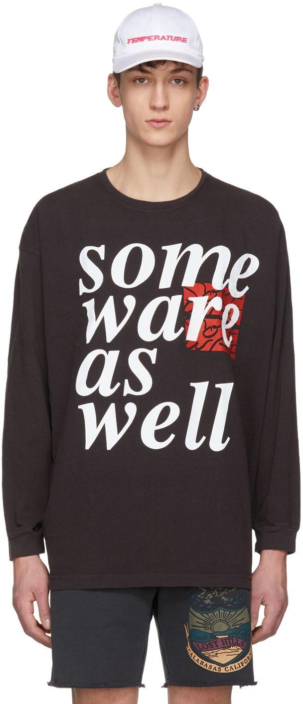 SSENSE Exclusive Black Logo T-Shirt Some Ware Sale 2018 Newest Cheap Explore Free Shipping 2018 New jFqKabiiEY
