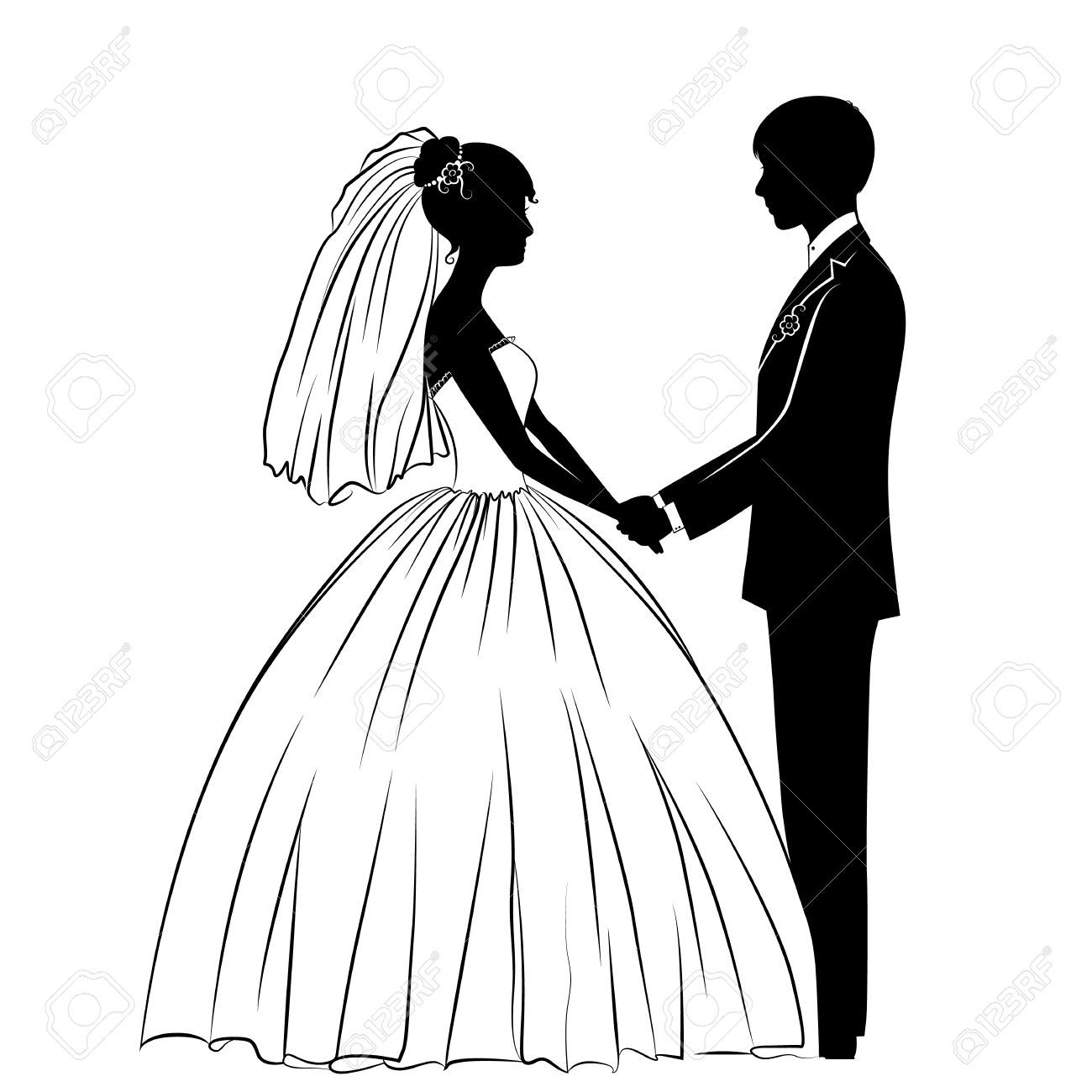 Wedding Couple Stock Vector Illustration And Royalty Free
