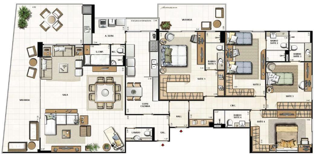Condomínio Edifício Exclusive - Av. Pref Sílvio Picanço, S/n - Charitas   123i