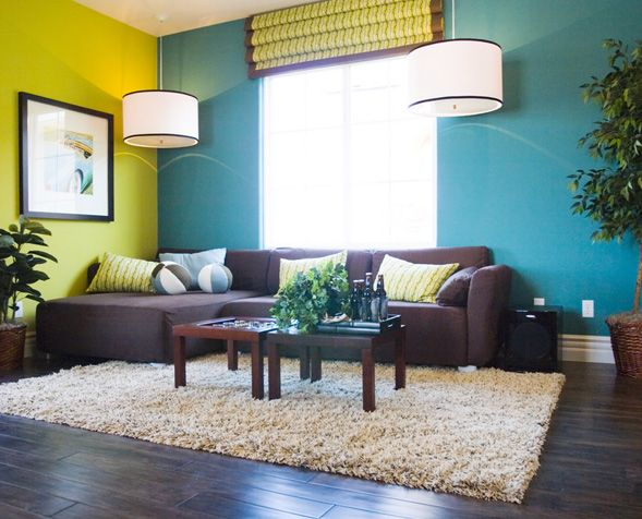 Yellow And Blue Paint Ideas For Brown Furniture Living Room Color