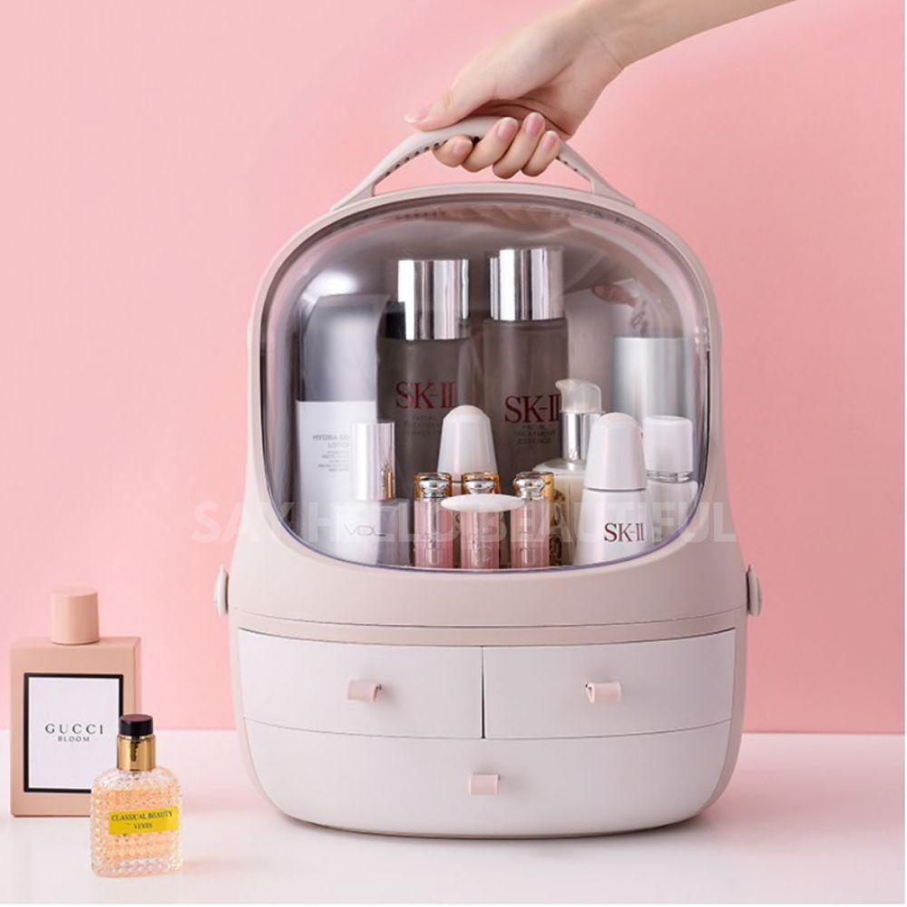 Makeup perfume hair care plus whatever else you need