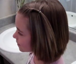 little girls' hairstyles front twist back for short hair