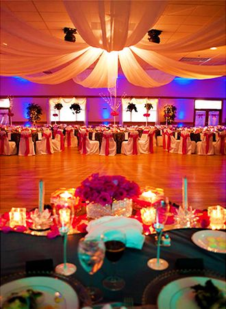 Dramtaic Drapery And Uplighting Cherry Hill Park Ballroom College Maryland