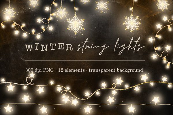 Christmas Lights Overlay Png.Ad Festive Holiday Graphic Clipart Warm Winter String